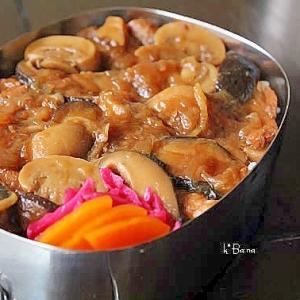 豚肉とキノコの醤油煮*べんとう