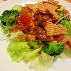 大麦生活クラッカーバルサミコサラダ