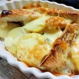 簡単★鮭とポテトのマヨネーズチーズ焼き