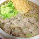 【糖質制限】材料3つで絶品★白菜と肉団子の節約お鍋