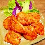 鶏ササミ☆ケチャップマヨ照り焼き