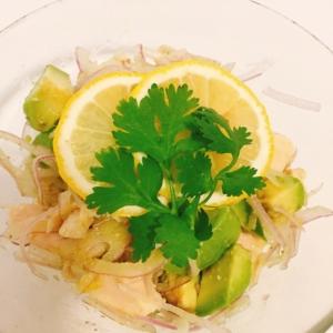 鶏ハムとアボカドのサラダ