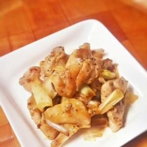 簡単お弁当!鶏もも肉と長ネギのピリッとゆず胡椒炒め