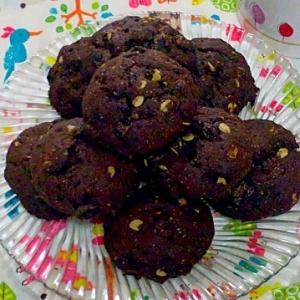 キャロブとオートミールのふんわりクッキー