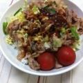忙しくてもしっかりご飯!ヘルシ~ソースカツ丼☆