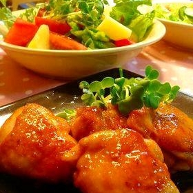 鶏もも肉のやわらか甘酢炒め