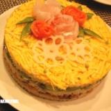 ひな祭り☆ちらし寿司de祝華ケーキ☆