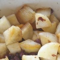 大根と小豆の醤油漬け