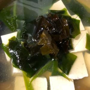 えびの出汁で湯豆腐&わかめしゃぶしゃぶ