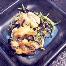 残り野菜と卵で★キャベツと水菜の塩昆布炒め