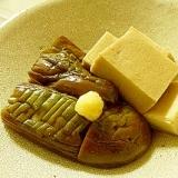 だしがしみしみ~☆ナスと高野豆腐の含め煮♪