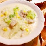 豚肉と白菜とコーンの中華風クリーム煮