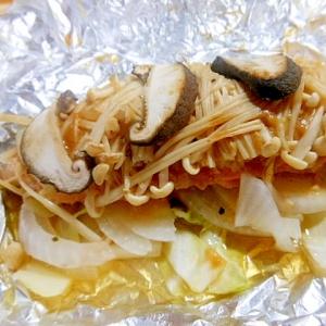 鮭と野菜の甘味噌ホイル蒸し