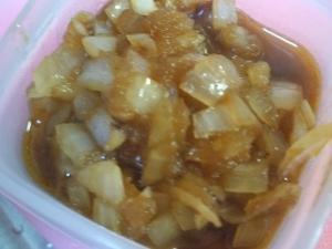 炒め玉ねぎとりんごのソース