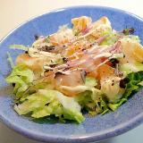 白菜と蜜柑とキャベツスプラウトのシーザーサラダ