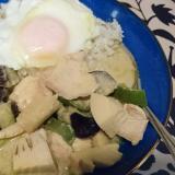 鶏肉のグリーンカレー