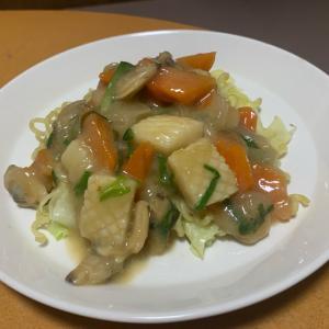 野菜たっぷり!海鮮焼きそば(^ ^)