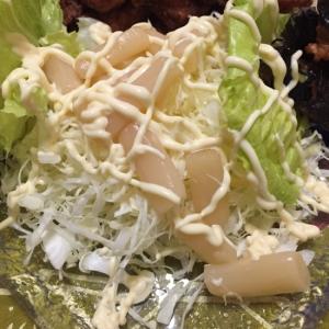 キャベツとホワイトアスパラのサラダ♪