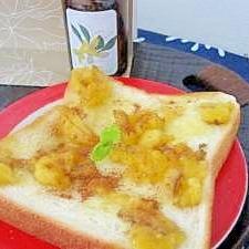 完熟バナナとシナモンのトロトロトースト♥