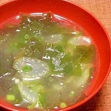ゴマ油で炒めたセロリ入り☆ワカメスープ