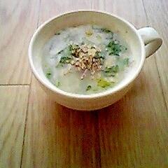 簡単☆中華風菜の花のオートミール粥