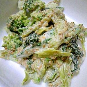 残り野菜で~マヨごまサラダ~