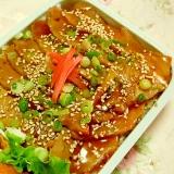 市販の鶏照り焼きで作ろ❤濃厚ジューシー鶏弁当❤
