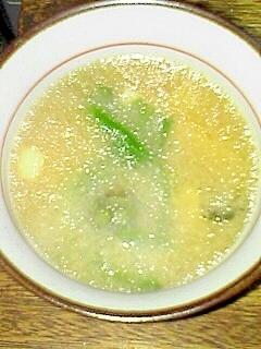頂いたフキノトウ 味噌汁です♪