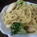 ブロッコリーと鶏肉の胡麻マヨパスタ