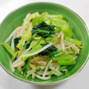 めんつゆで簡単★小松菜ともやしの辛子和え