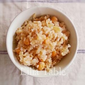 ひよこ豆と金時生姜の玄米ご飯
