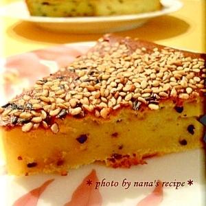 HMとサツマイモで★サツマイモと黒胡麻のケーキ
