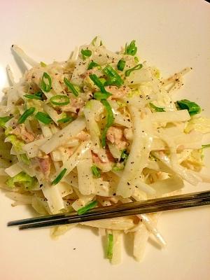 大根と白菜のツナサラダ