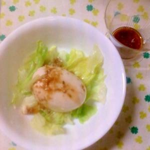 ☆レタスとトマト豆腐と鶏がらドレッシングのサラダ☆