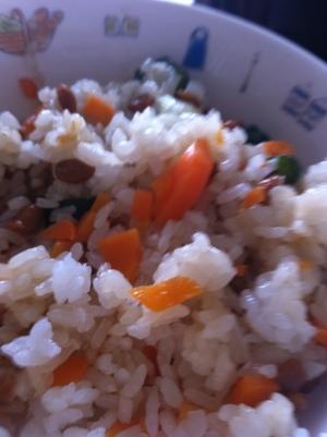 納豆オクラ炒飯