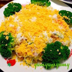 キャベツ&ポテトサラダのミモザ風です☆彩りほわり♪
