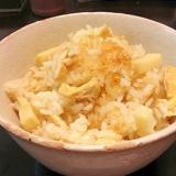 朝採りの筍で『京風たけのこご飯』