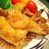 【簡単・フライパン】カレーが香るイエローチキン