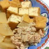 厚揚げと大根の肉豆腐