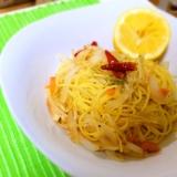 簡単♡レモンの野菜いっぱいコンソメパスタで疲労回復