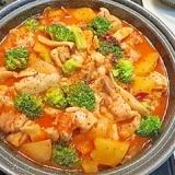タジン鍋で作る!もも肉のケチャップ煮