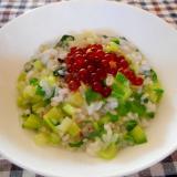 小松菜といくらのおかゆ