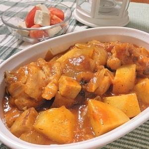 鶏胸肉のやわらかトマト煮込み