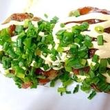 マヨ味噌ソースのねぎたっぷりハンバーグ