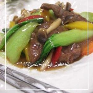 牛肉と野菜のうま煮♪ 中華はいかがでちゅか(爆)