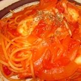 ★簡単★モッツァレラチーズたっぷりのトマトパスタ★