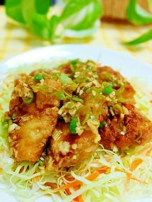 お肉なしょ♪豆腐で作る油淋鶏(ユーリンチー)