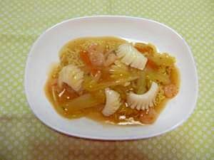 インスタントラーメンで簡単♪海鮮皿うどん