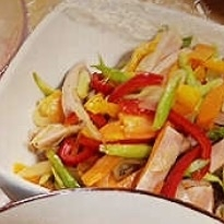 魚肉ソーセージとアスパラの中華炒め