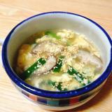 卵と椎茸とニラの中華スープ